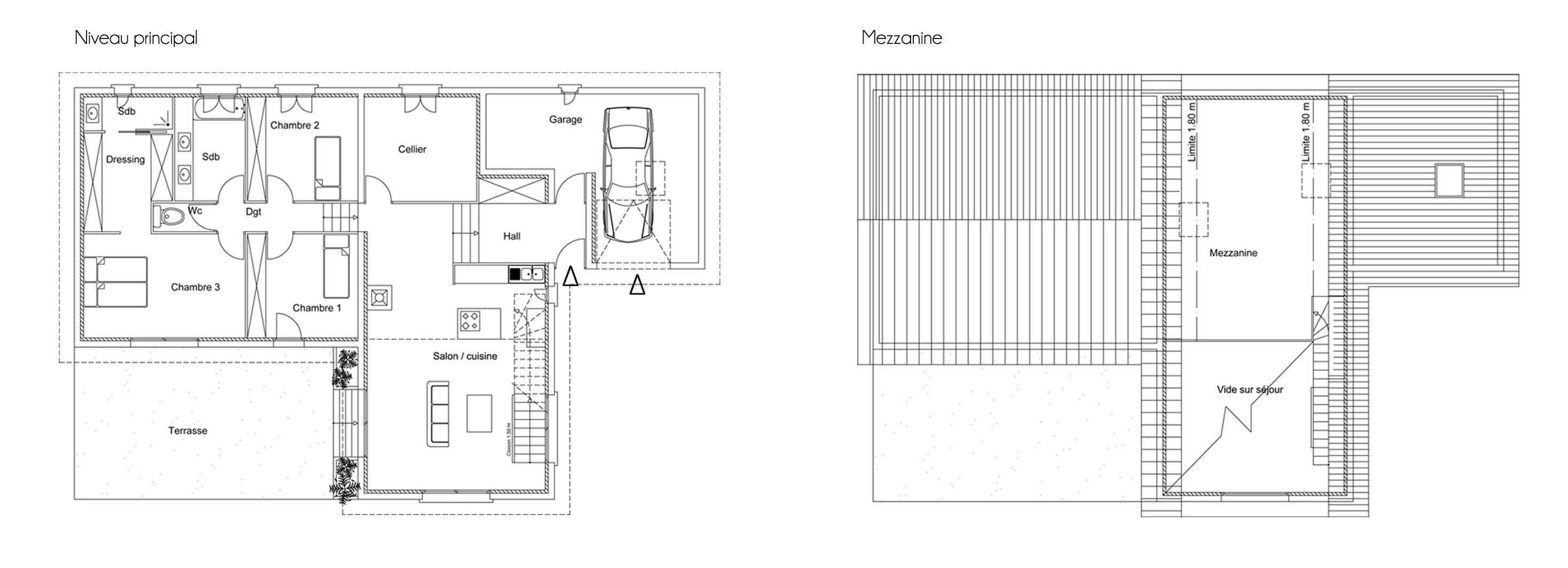 Maison h atelier2b - Plan de masse d une maison ...