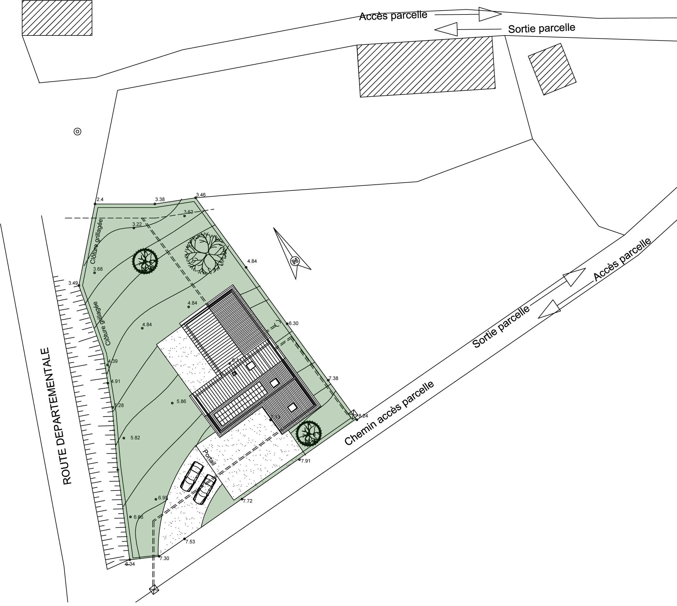 Projets atelier2b - Plan de masse cote dans les 3 dimensions ...